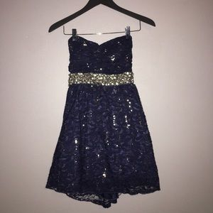 Dresses & Skirts - Strapless lace and sequin homecoming dress